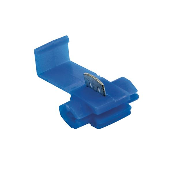 Champion Blue Wire Tap Connector - 100Pk | Auto Crimp Terminals - Wire Tap Connectors