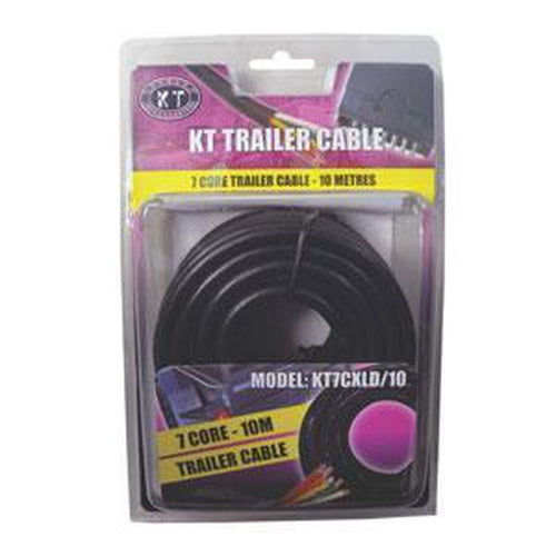Kt Trailer Cable 7 Core-7/.32 X 10M (4Amp)** | Trailer Plugs - Trailer Cable