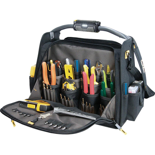 Kuny'S Tech Gear Led Lighted 18In Dual Compartment Carrier | Tool Bags-Work Wear-Tool Factory