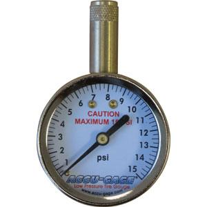 Accu-Gage® Standard 0-15Psi - Straight Chuck | Tyre Gauges - Dial - Straight Chuck