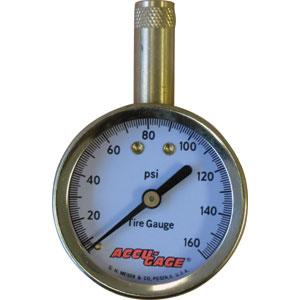 Accu-Gage® Standard 0-160Psi - Straight Chuck | Tyre Gauges - Dial - Straight Chuck