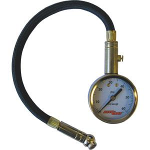 Accu-Gage® 11In Pro 0-60Psi - Angle Chuck | Tyre Gauges - Dial - Flex Hose