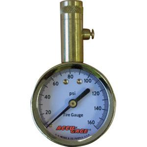 Accu-Gage® Pro 0-160Psi - Straight Chuck | Tyre Gauges - Dial - Straight Chuck
