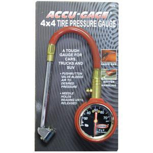 Accu-Gage® 11In Hd Pro 4X4 3-75Psi - Df Chuck | Tyre Gauges - Dial - Flex Hose