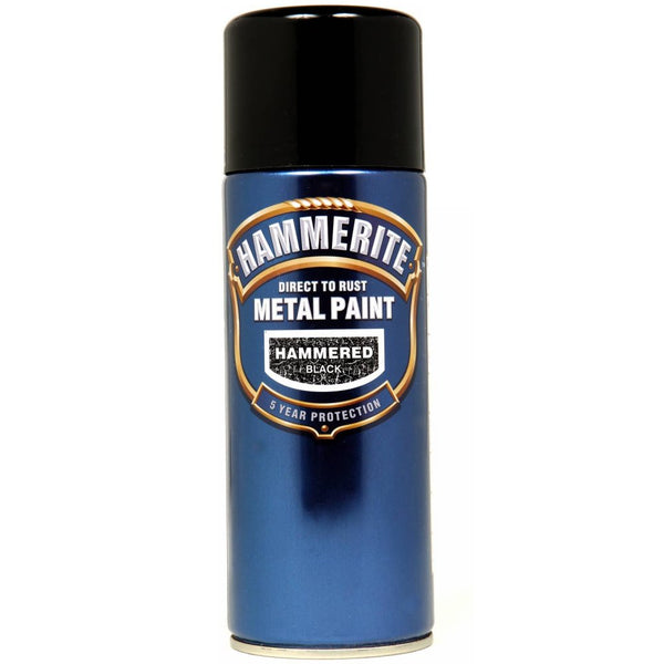 Hammerite Direct to Rust Metal Paint Hammered Black 400ml Aerosol-Metal Protection & Paint-Tool Factory