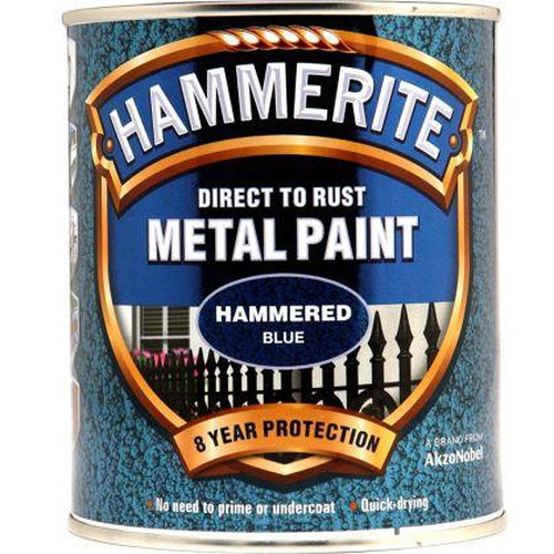 Hammerite Direct to Rust Metal Paint Hammered Blue 750ml-Metal Protection & Paint-Tool Factory