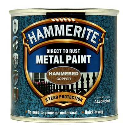 Hammerite Direct to Rust Metal Paint Hammered Copper 750ml-Metal Protection & Paint-Tool Factory