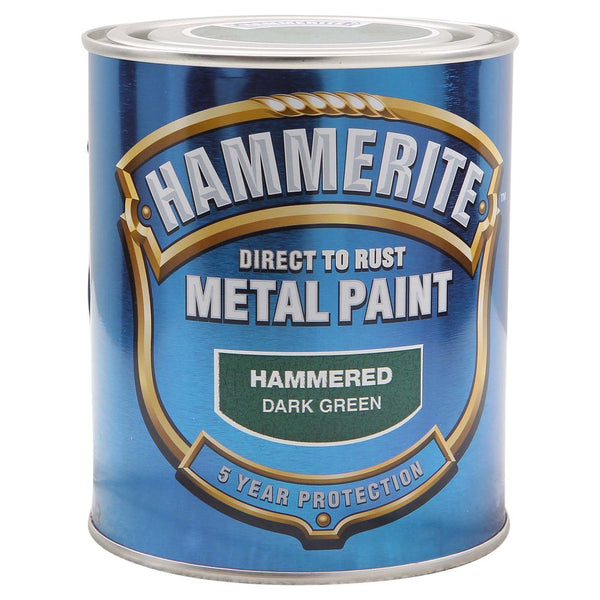 Hammerite Direct to Rust Metal Paint Hammered Dark Green 750ml-Metal Protection & Paint-Tool Factory