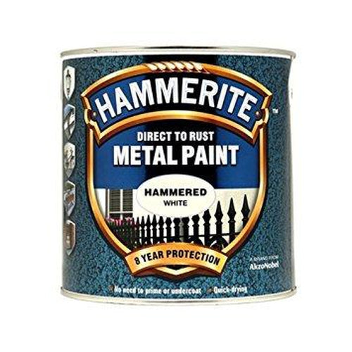 Hammerite Direct to Rust Metal Paint Hammered White 2.5Litre