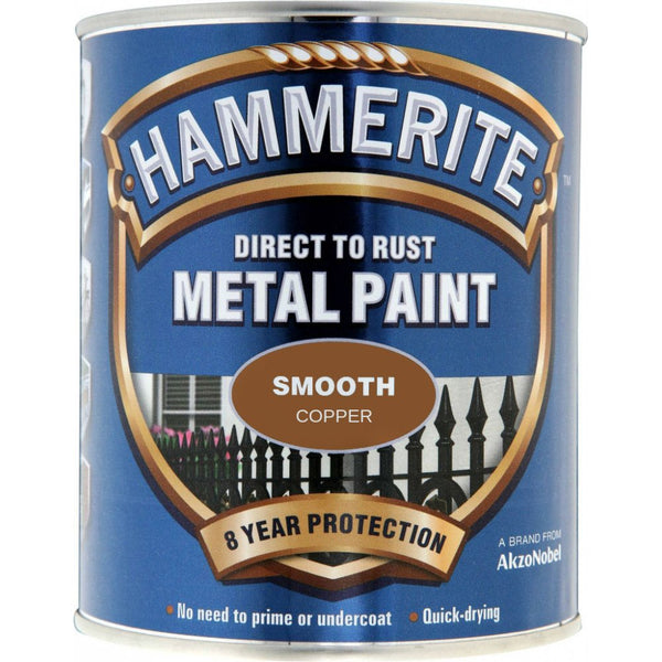 Hammerite Direct to Rust Metal Paint Smooth Copper 250ml-Metal Protection & Paint-Tool Factory