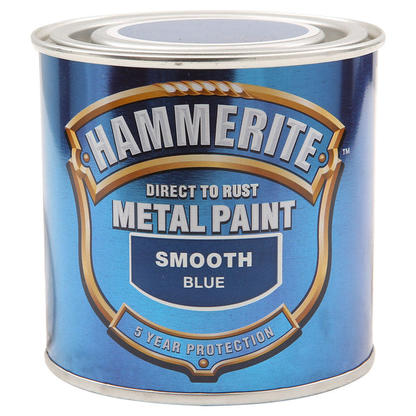 Hammerite Direct to Rust Metal Paint Smooth Blue 250ml-Metal Protection & Paint-Tool Factory