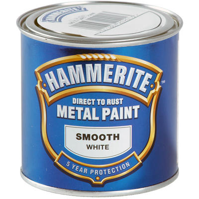 Hammerite Direct to Rust Metal Paint Smooth White 250ml