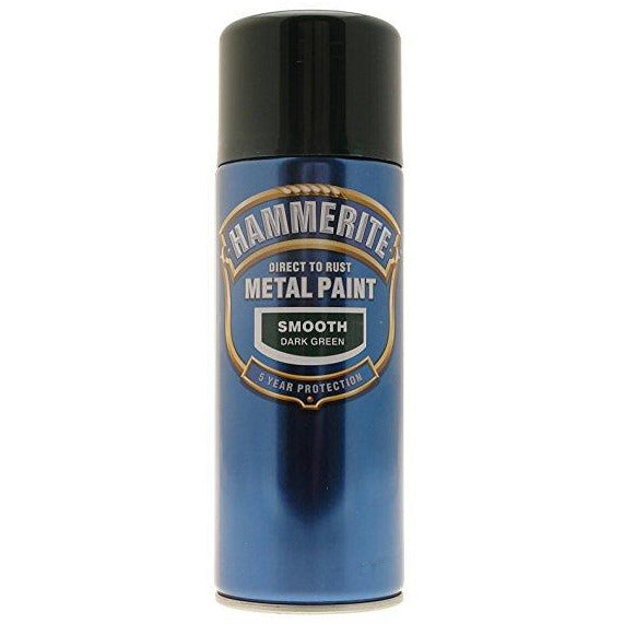 Hammerite Direct to Rust Metal Paint Smooth Dark Green 400ml-Metal Protection & Paint-Tool Factory