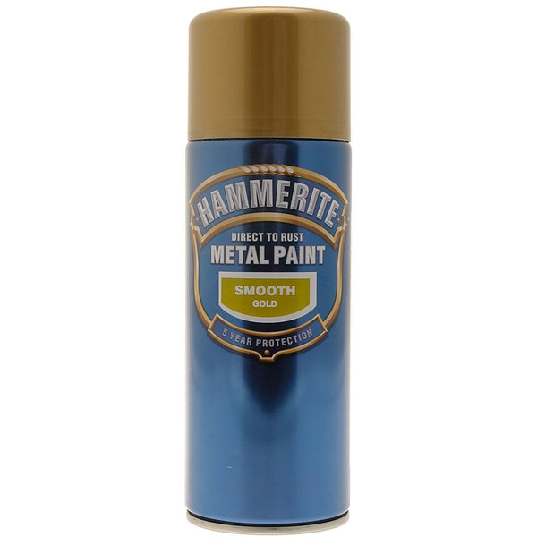 Hammerite Direct to Rust Metal Paint Smooth Gold 400ml Aerosol-Metal Protection & Paint-Tool Factory