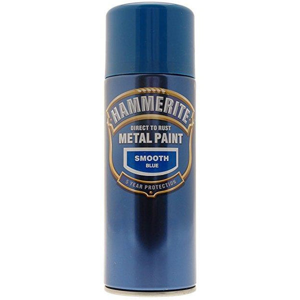 Hammerite Direct to Rust Metal Paint Smooth Blue 400ml Aerosol-Metal Protection & Paint-Tool Factory