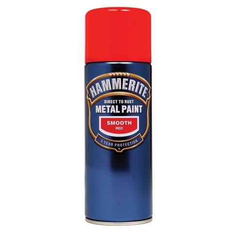 Hammerite Direct to Rust Metal Paint Smooth Red 400ml Aerosol-Metal Protection & Paint-Tool Factory