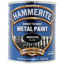 Hammerite Direct to Rust Metal Paint Smooth Black 750ml