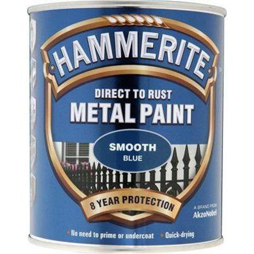 Hammerite Direct to Rust Metal Paint Smooth Blue 750ml-Metal Protection & Paint-Tool Factory