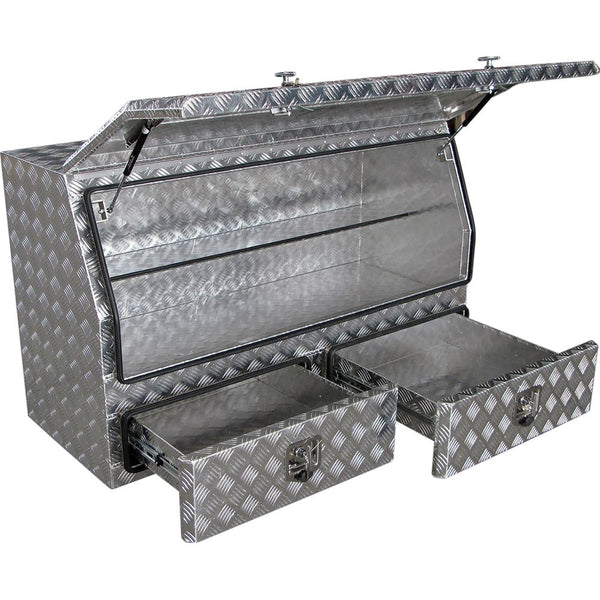 Aluminium High Side Hd Truck Box 2-Drawer | Ute Tool Boxes