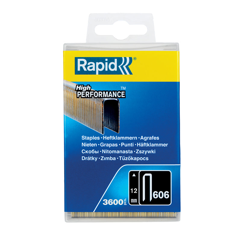 Rapid Staples 606/12 3600pcs Plastic Box-Staples-Tool Factory