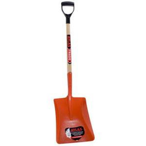 Atlas Shovel #8 Sq Mth D/H/W - At02618 | Shovels - Square Mouth-Garden-Tool Factory