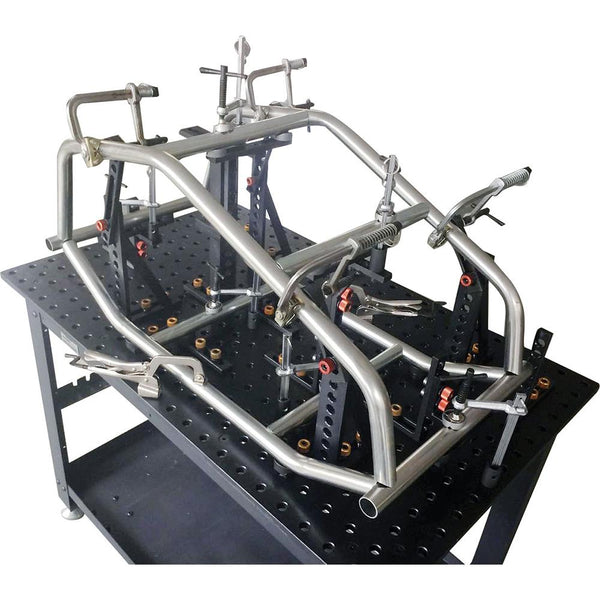 Stronghand Rhino Cart - Table + 122Pc (3D) Fixturing Kit | Tables-Welding-Tool Factory