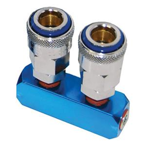 Thb 2-Way Manifold - 1/4In | Air Line Accessories - Air Manifolds-Air Tools-Tool Factory