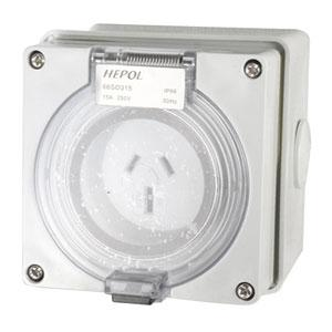 15A 3 Flat Pin 250V Socket Outlet Ip66** | Plugs & Sockets - Socket Outlets