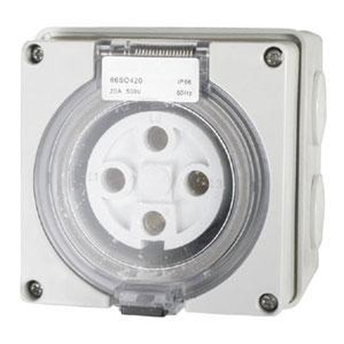 20A 4 Round Pin 440V Socket Outlet Ip66** | Plugs & Sockets - Socket Outlets