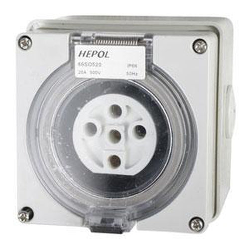 20A 5 Round Pin 500V Socket Outlet Ip66** | Plugs & Sockets - Socket Outlets