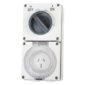 15A 3 Flat Pin 250V Switched Socket** | Plugs & Sockets - Switched Socket Outlets
