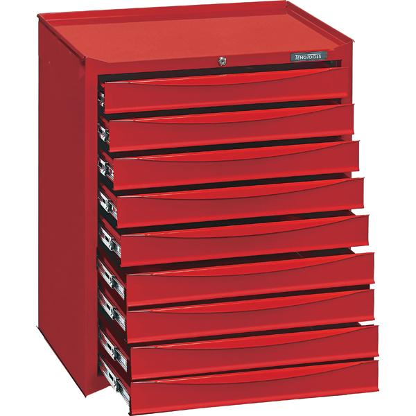 Teng 9-Dr. Storage Cabinet (No Wheels) | Accessories - Roll Cabinet Accessories