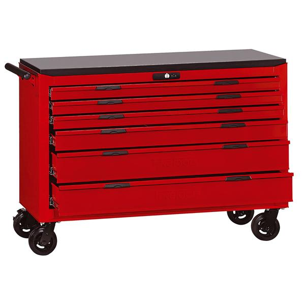 Teng 6-Dr. 8-Series 54In Wagon W/Wooden Top | Tool Boxes-Tool Storage-Tool Factory