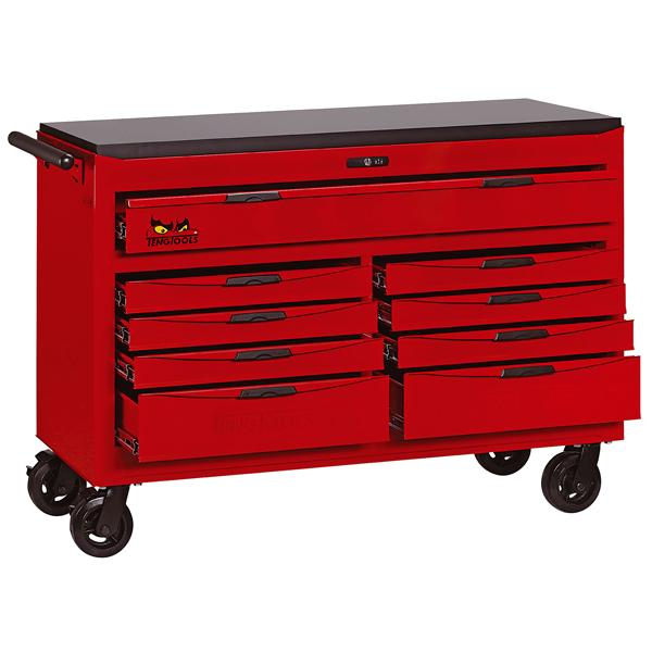 Teng 9-Dr. 8-Series 54In Wagon W/Wooden Top | Tool Boxes-Tool Storage-Tool Factory