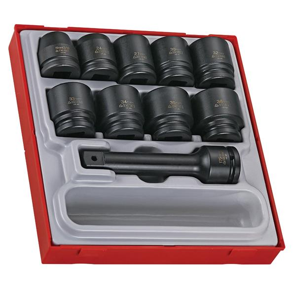 16Pc 3/4In Dr. Impact Socket Set | Tool Tray Sets - 3/4 Inch Drive