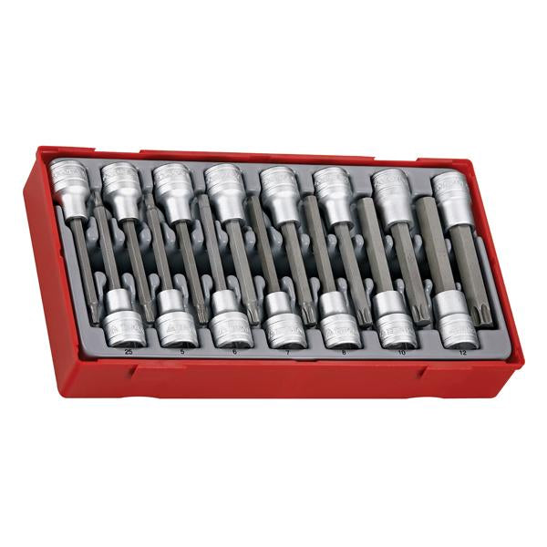 15Pc 1/2In Dr. Torx & Hex Long Bits Socket Set | Tool Tray Sets - 1/2 Inch Drive-Hand Tools-Tool Factory