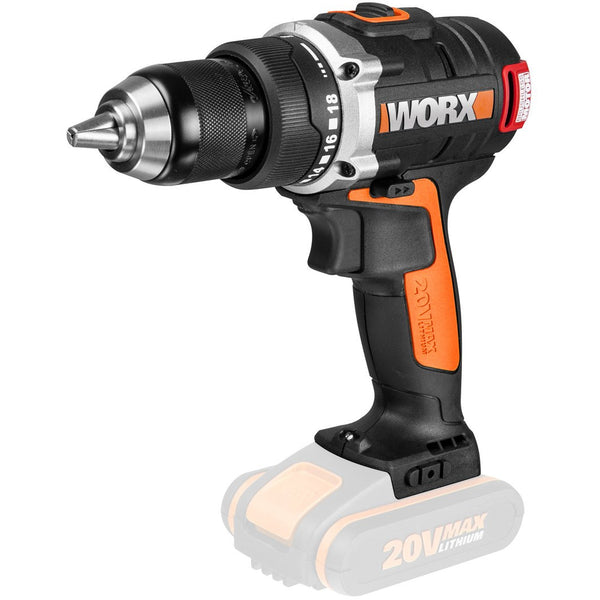 Worx 20V Brushless Drill Driver Skin only-Power Tools-Tool Factory