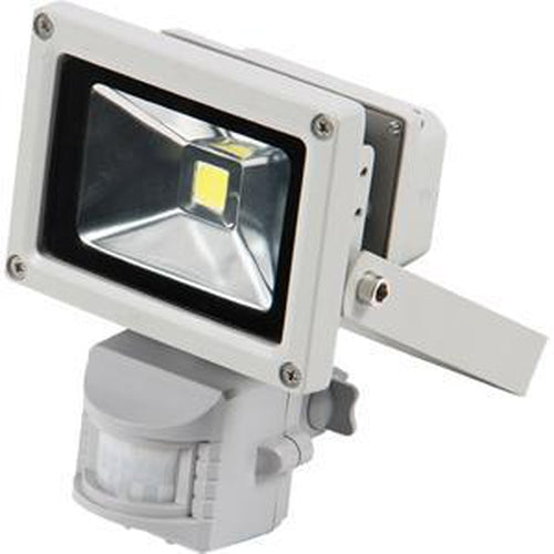 Qesta Led 240V Floodlight W/Sensor - 10W (No Plug) | Flood Lights - 240V-Lighting - L.E.D-Tool Factory