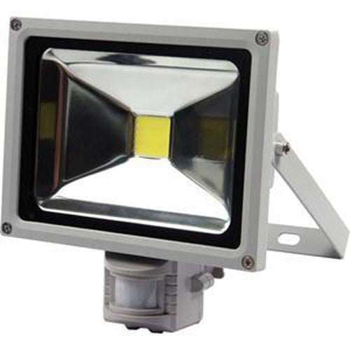 Qesta Led 240V Floodlight W/Sensor - 20W (No Plug) | Flood Lights - 240V-Lighting - L.E.D-Tool Factory