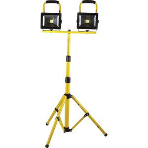 Qesta Led Rechargeable Tri-Pod Worklight - 2 X 20W | Rechargeable Worklights