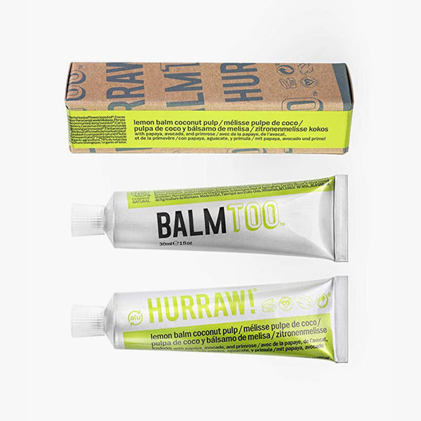 Hurraw BALMTOO Lemon Balm Coconut Pulp Balm