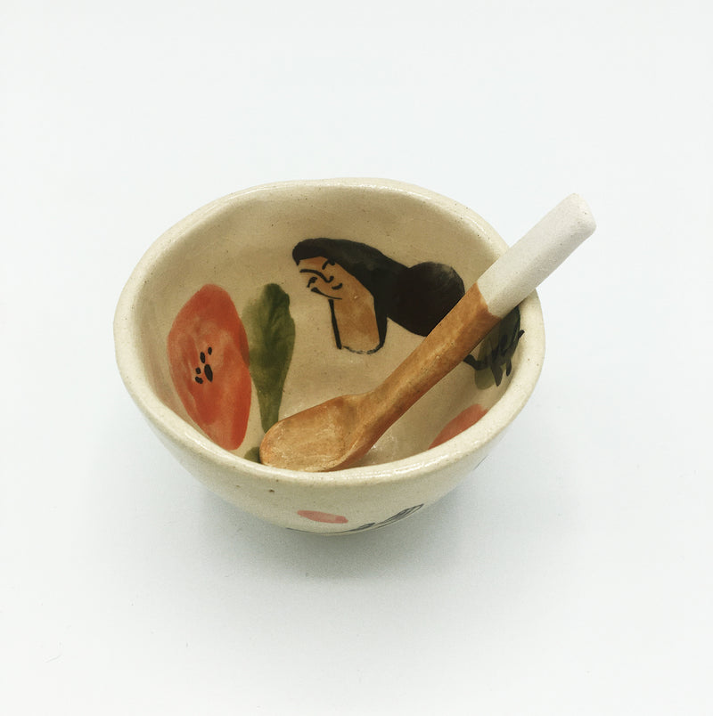 Philippine d'Otreppe Ceramic Bowl + Spoon
