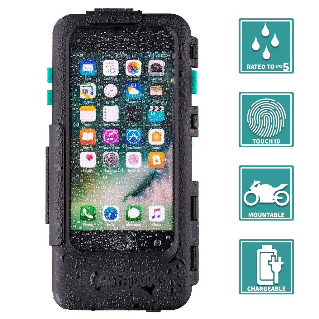 iPhone 7 Plus 5.5 Waterproof Case with Bike Mount Attachments