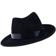 Felt twisted crown trilby with tinted perspex
