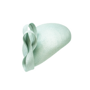 Straw blocked beret with knot