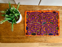 Mola appliqué fabric panel