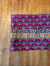 Pink corduroy patterned infinity scarf