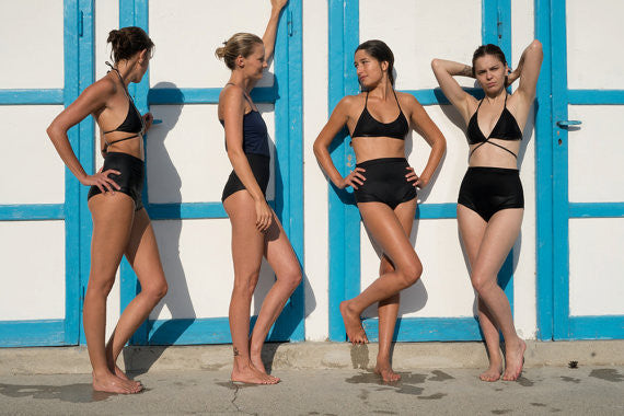 zero waste swimwear by emroce - Lido di Moltrasio photoshoot by Linda Rosewall