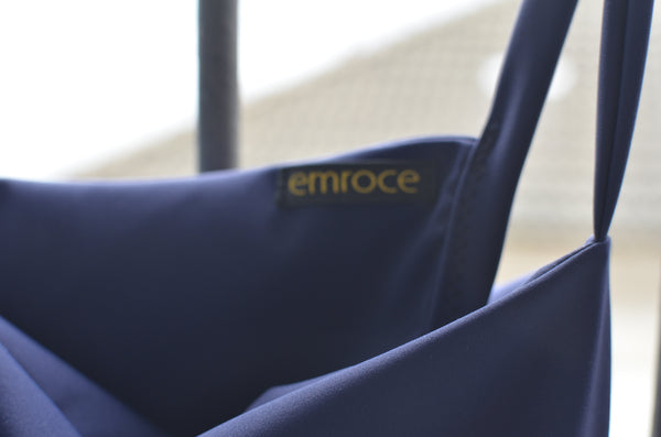 close up quality of emroce zero waste swimwear