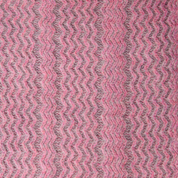 Pink and Grey Chunky Short Snood - 100% British lambswool